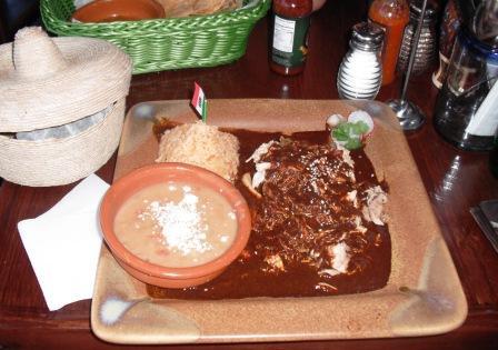Shredded Chicken with Mole Poblano
